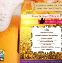 Giovedì 26 giugno 2014: Cena e serata a base di birra agricola, musica dal vivo foto evento passato